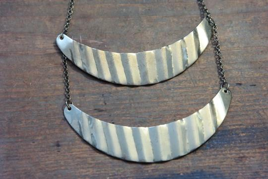Other Tiered Double Crescent Necklace