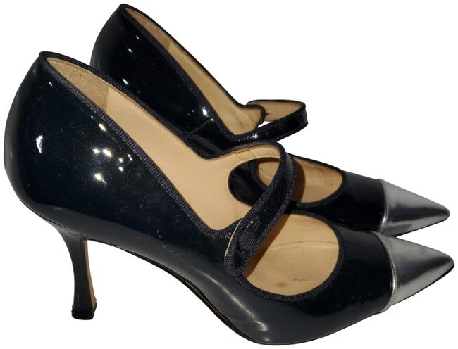 Item - Navy and Silver Mary Jane Pumps Size EU 37 (Approx. US 7) Regular (M, B)