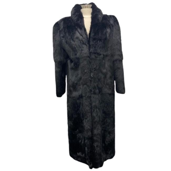 Item - Black Rabbit Full Length Coat Size 8 (M)