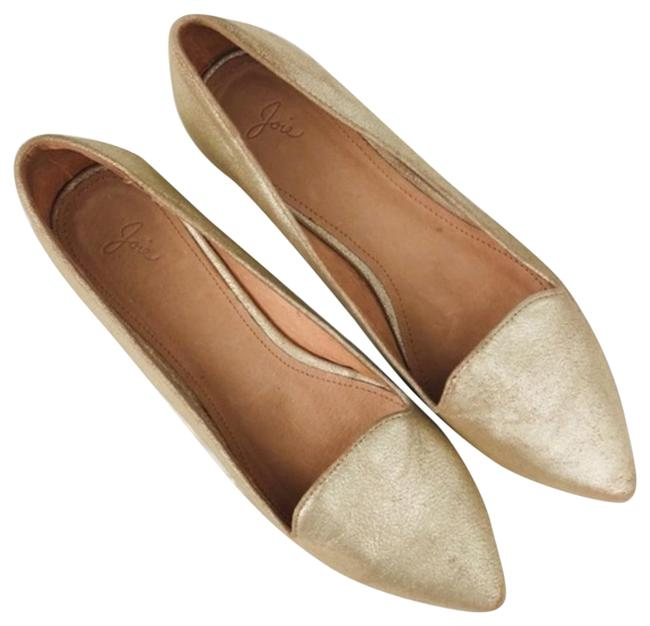 Item - Gold Light Pointed Daydreaming Crackled Leather Flats Size EU 40 (Approx. US 10) Regular (M, B)
