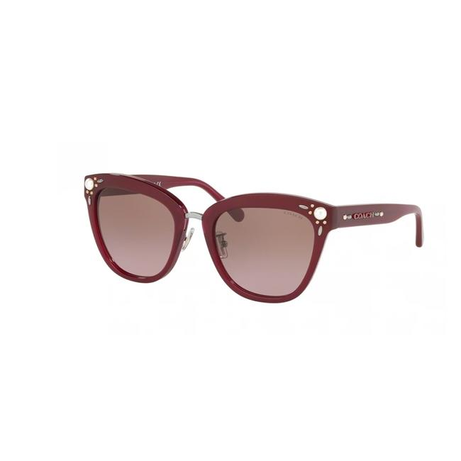 Item - Aubergine Burgundy Frame & Gradient Lens Hc 8266h 552614 L1092 Square Woman's Sunglasses