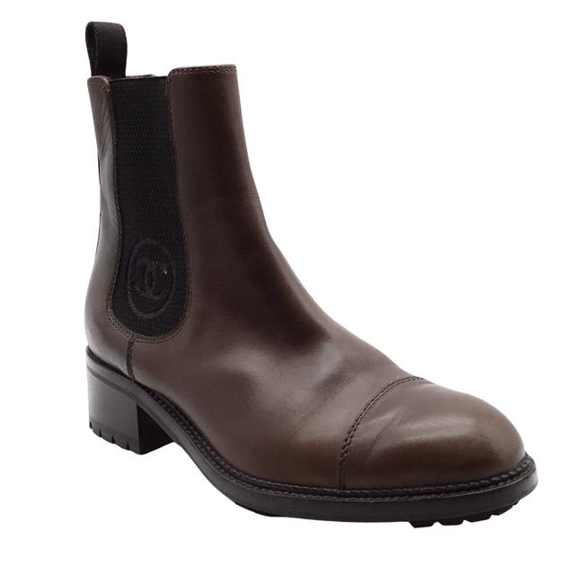 Item - Brown and Black Leather Ankle Boots/Booties Size EU 37.5 (Approx. US 7.5) Regular (M, B)