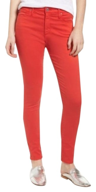 Item - Red Coated Farrah High Waist Poppy Skinny Jeans Size 25 (2, XS)