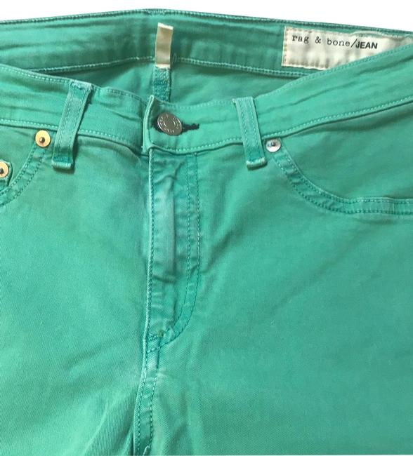 Item - Light Green And Legging Straight Leg Jeans Size 10 (M, 31)