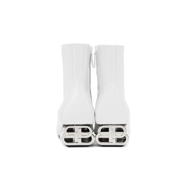 Item - White 40mm Ankle Boots/Booties Size EU 39 (Approx. US 9) Regular (M, B)