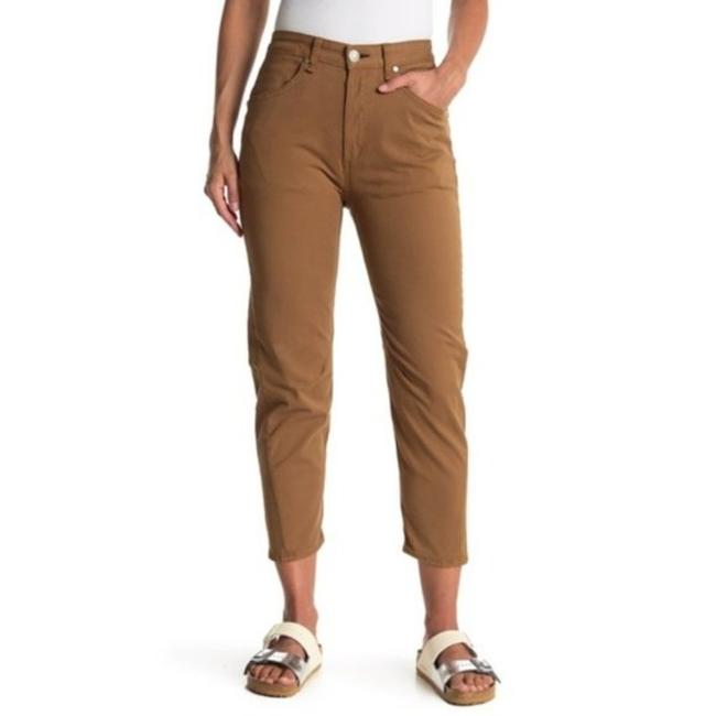 Item - Tan Engineered High Rise Crop Chino Pants Size 00 (XXS, 24)