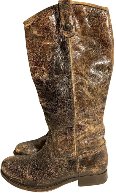 Item - Brown Distressed Leather Boots/Booties Size US 7 Narrow (Aa, N)