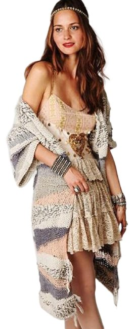 Item - Silver Sands Of Time In (Grey) Peach and Ivory Tones Cardigan Size 10 (M)