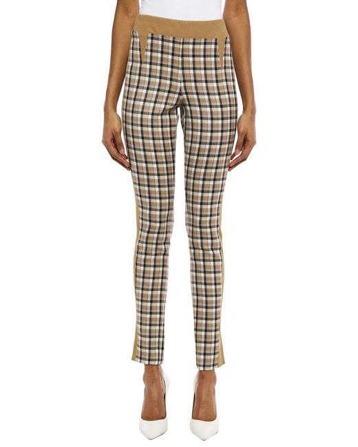 Item - Brown Multiple 34(2) Checkered Jacquard and Knit Slim Pants Size 2 (XS, 26)