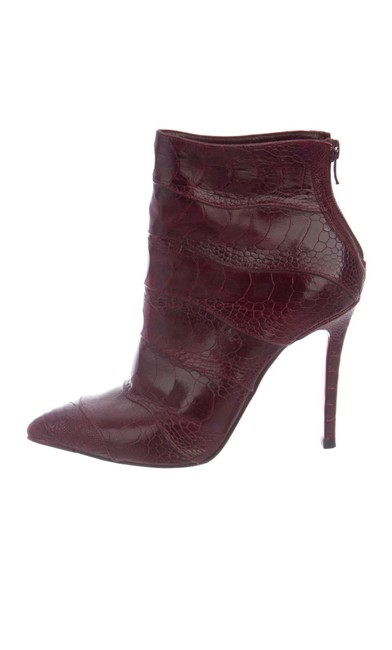 Item - Burgundy Zermadame Ankle Boots/Booties Size US 7.5 Narrow (Aa, N)