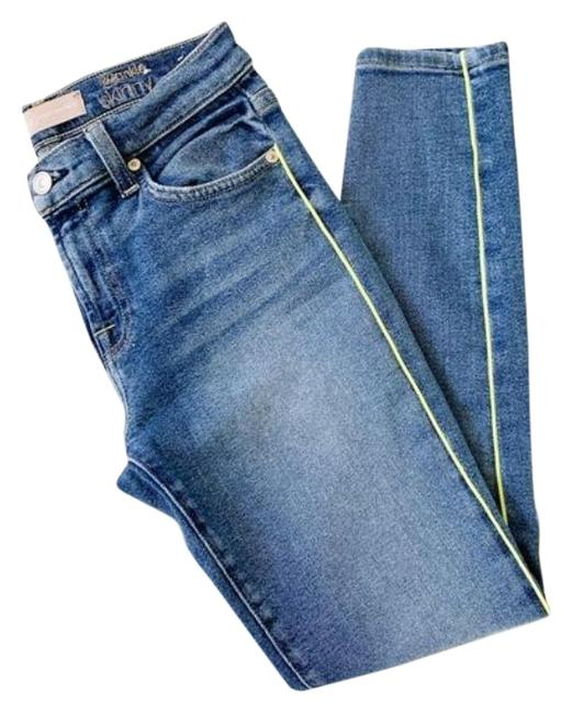 Item - Blue Yellow Light Wash The Ankle Skinny Jeans Size 26 (2, XS)