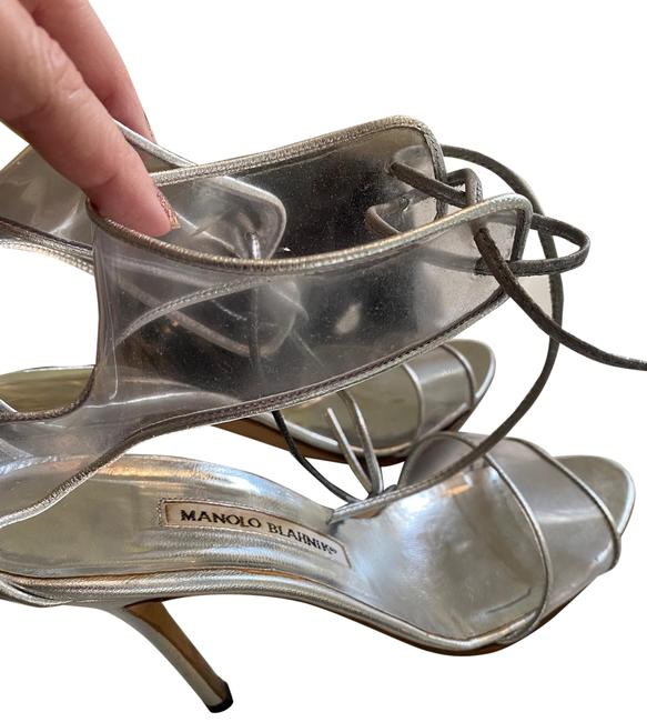 Item - Clear/Lucite and Silver Sandals Size US 8.5 Regular (M, B)
