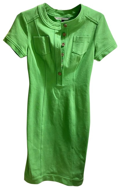 Item - Green Button Mid-length Cocktail Dress Size 2 (XS)