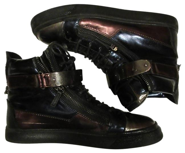 Giuseppe Zanotti Multi Color Patent Leather Men's London High-top Sneakers Size EU 42.5 (Approx. US 12.5) Regular (M, B) Giuseppe Zanotti Multi Color Patent Leather Men's London High-top Sneakers Size EU 42.5 (Approx. US 12.5) Regular (M, B) Image 1