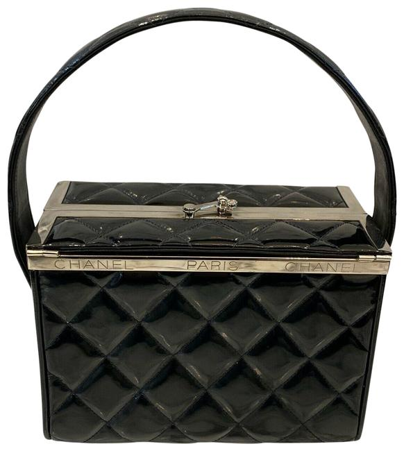 Item - Box 1996 Fall Vanity Balck Silver Patent Leather Tote