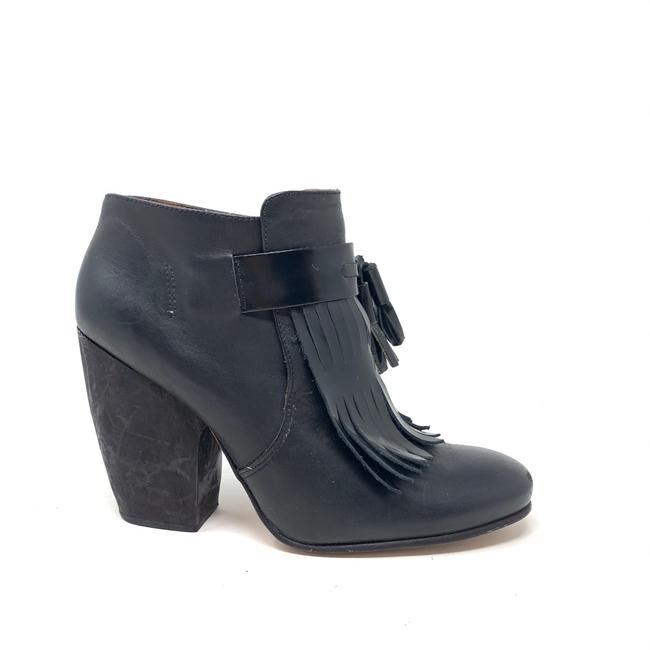 Item - Black Ankle Leather Boots/Booties Size US 7.5 Regular (M, B)