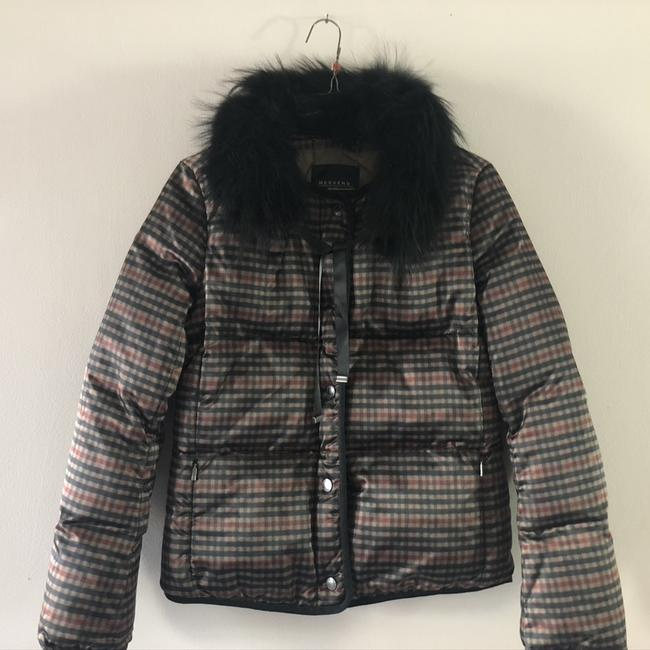 Item - Black W Puffer W/Detachable Collar Coat Size 4 (S)