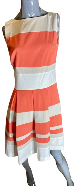 Item - Coral/Khaki/White Unknown Mid-length Work/Office Dress Size 8 (M)
