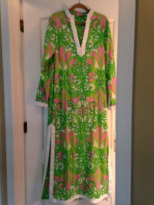 Green and pink Maxi Dress by Lilly Pulitzer