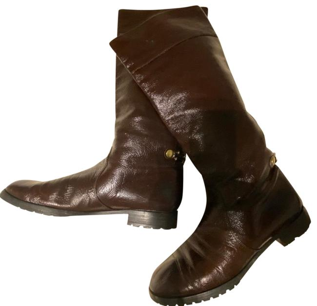 Item - Brown Tall Leather Boots/ Boots/Booties Size US 10.5 Regular (M, B)
