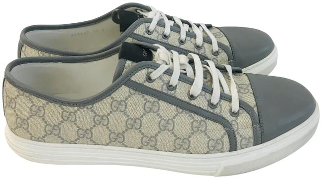 Item - Grey Gg Supreme Coated Canvas Sneakers Size US 12 Wide (C, D)