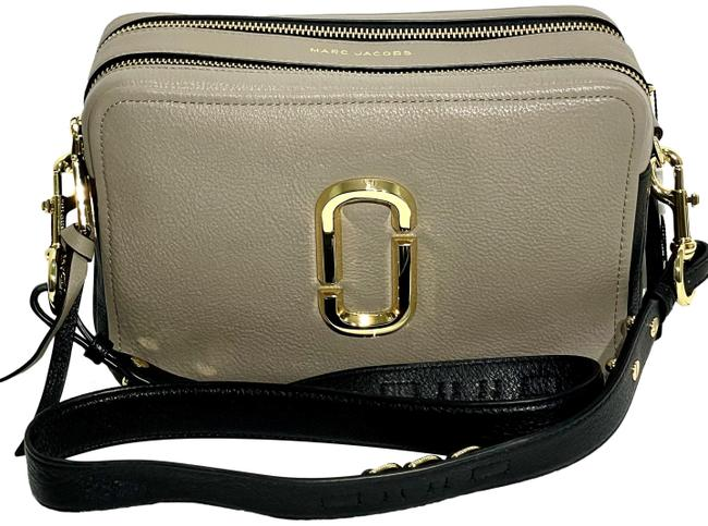 Marc Jacobs The Softshot 27 Cement Multi Leather Cross Body Bag Marc Jacobs The Softshot 27 Cement Multi Leather Cross Body Bag Image 1