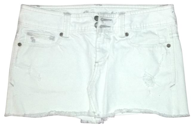 Abercrombie & Fitch And Mini Skirt white denim