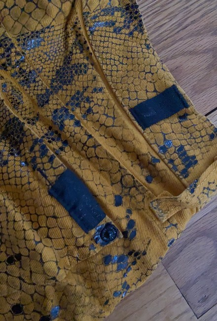 7 For All Mankind Yellow Coated Snakeskin Skinny Jeans Size 0 (XS, 25) 7 For All Mankind Yellow Coated Snakeskin Skinny Jeans Size 0 (XS, 25) Image 4