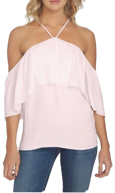 Item - Pink XS Ruffle Cold Shoulder Blouse Size 2 (XS)