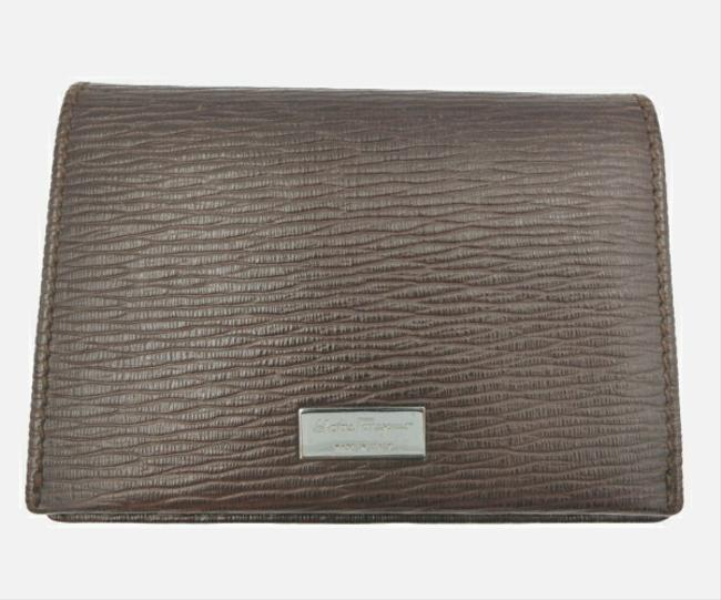 Item - Brown Leather Card Case Wallet