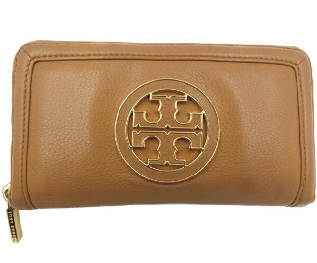 Item - Brown Leather Round Zipper Wallet