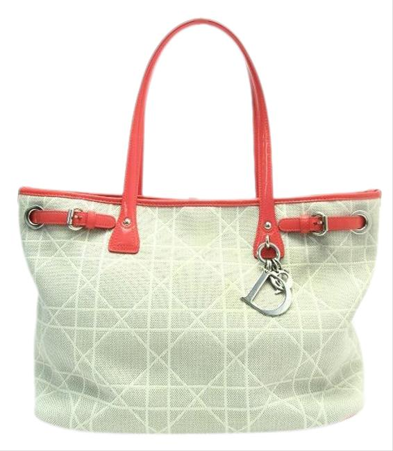 Item - Bag Panarea Enamel Gray / Pink / White Canvas Tote
