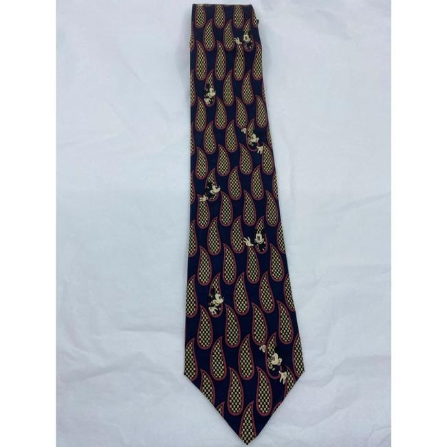 Item - Black Green Mickey Mouse Hand Made Silk Tie/Bowtie