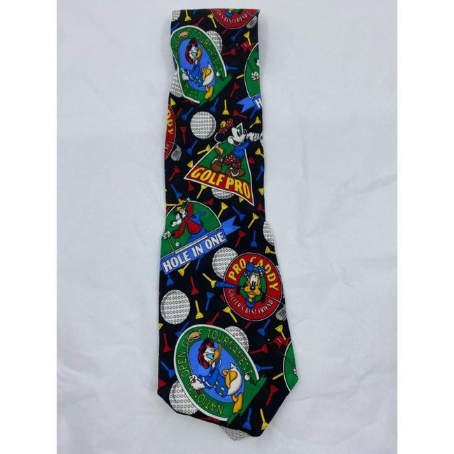 Item - Black Green Red Mickey Mouse Hand Made Silk Tie/Bowtie