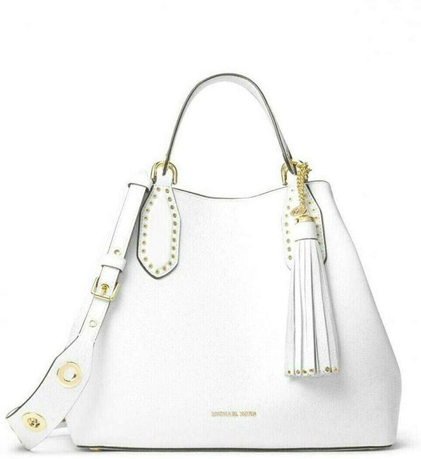 Item - Brooklyn Small Grab White Pebbled Leather Weekend/Travel Bag