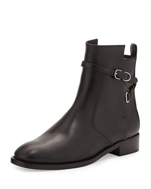 Item - Black Ankle-strap Flat Ankle Boots/Booties Size EU 37 (Approx. US 7) Regular (M, B)