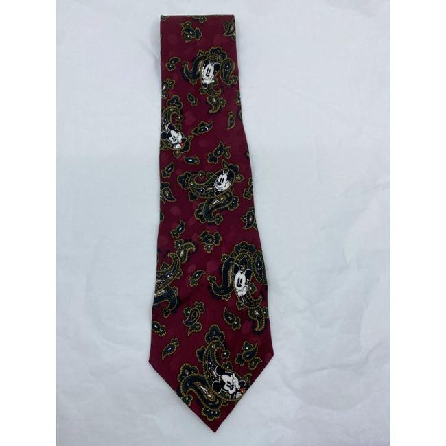 Item - Red Black Mickey Mouse Hand Made Silk Tie/Bowtie