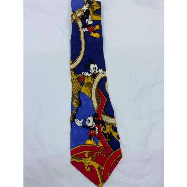 Item - Blue Red Orange Mickey Mouse Neck Hand Made Silk Tie/Bowtie