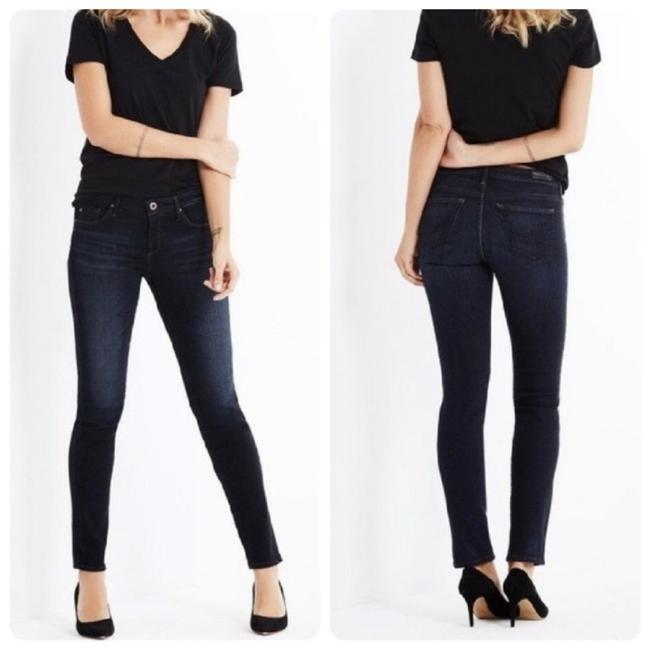 AG Adriano Goldschmied Black Dark Rinse The Stilt Cigarette Skinny Jeans Size 6 (S, 28) AG Adriano Goldschmied Black Dark Rinse The Stilt Cigarette Skinny Jeans Size 6 (S, 28) Image 1