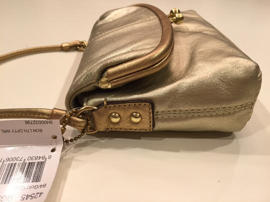 Coach Wristlet in Gold/Gold