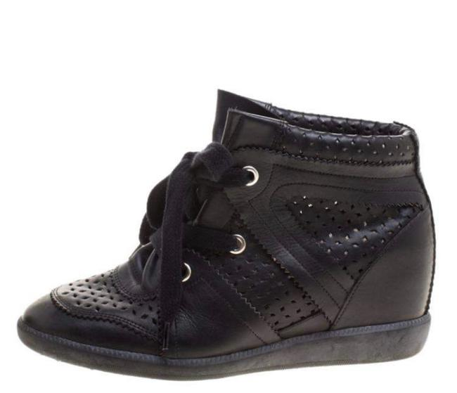 Item - Black Baya Wedge Leather Sneakers Size EU 39 (Approx. US 9) Regular (M, B)