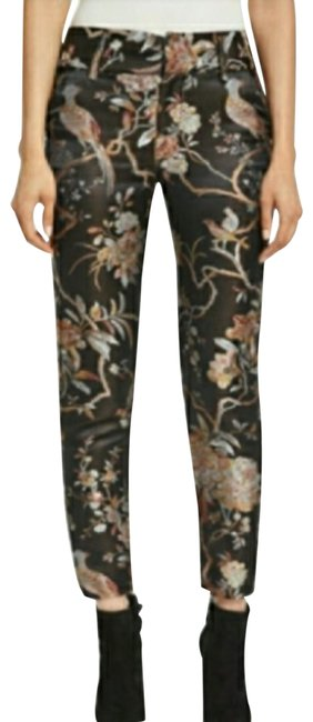 Item - Black and Purple Stacey Floral -print Ankle … Pants Size 2 (XS, 26)