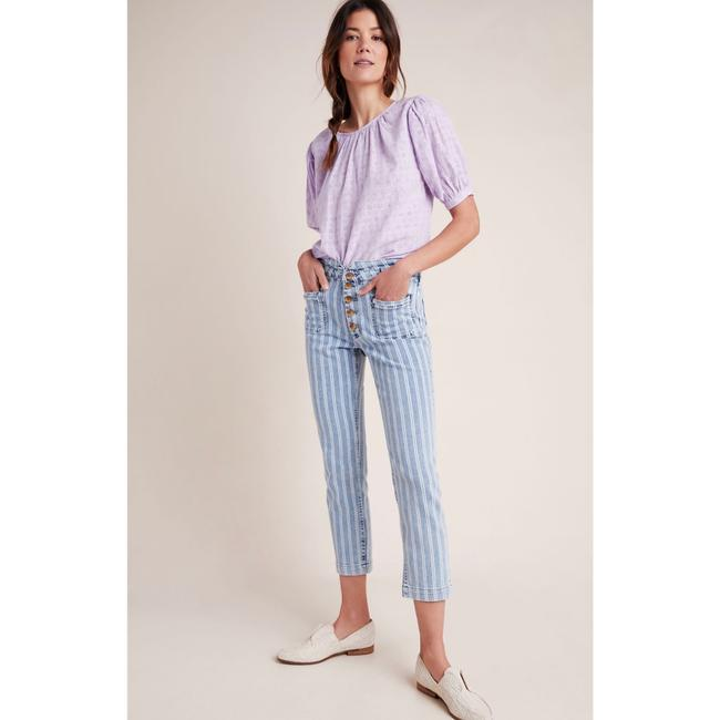 Anthropologie Blue & White Acid Pilcro Washed Striped New Skinny Jeans Size 27 (4, S) Anthropologie Blue & White Acid Pilcro Washed Striped New Skinny Jeans Size 27 (4, S) Image 2