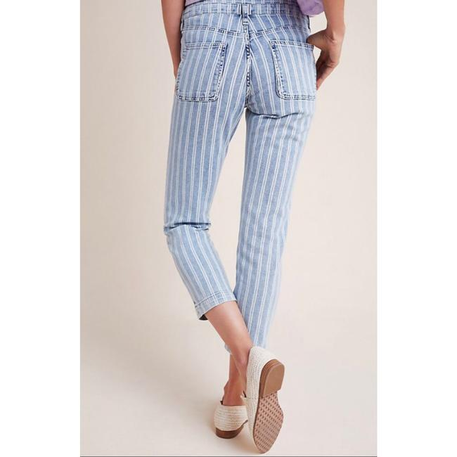 Anthropologie Blue & White Acid Pilcro Washed Striped New Skinny Jeans Size 27 (4, S) Anthropologie Blue & White Acid Pilcro Washed Striped New Skinny Jeans Size 27 (4, S) Image 3
