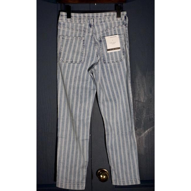 Anthropologie Blue & White Acid Pilcro Washed Striped New Skinny Jeans Size 27 (4, S) Anthropologie Blue & White Acid Pilcro Washed Striped New Skinny Jeans Size 27 (4, S) Image 4
