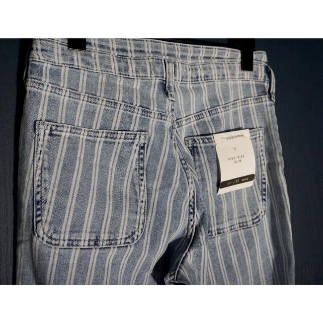Anthropologie Blue & White Acid Pilcro Washed Striped New Skinny Jeans Size 27 (4, S) Anthropologie Blue & White Acid Pilcro Washed Striped New Skinny Jeans Size 27 (4, S) Image 6