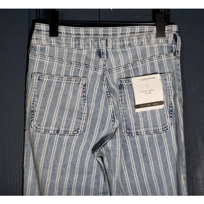 Anthropologie Blue & White Acid Pilcro Washed Striped New Skinny Jeans Size 27 (4, S) Anthropologie Blue & White Acid Pilcro Washed Striped New Skinny Jeans Size 27 (4, S) Image 8