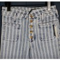 Anthropologie Blue & White Acid Pilcro Washed Striped New Skinny Jeans Size 27 (4, S) Anthropologie Blue & White Acid Pilcro Washed Striped New Skinny Jeans Size 27 (4, S) Image 9