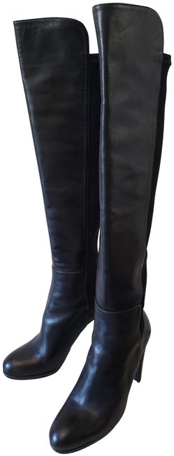 Item - Black Highway 50/50 Over The Knee Napa Leather) Boots/Booties Size US 8.5 Regular (M, B)