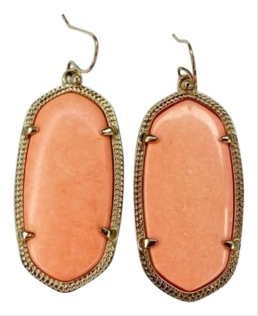 Item - Peach Elle In Coral and Gold Earrings